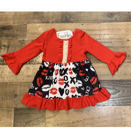 XOXO Ruffle Valentine's Dress