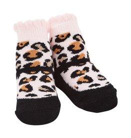 Mudpie Mud Pie - Black Leopard Socks