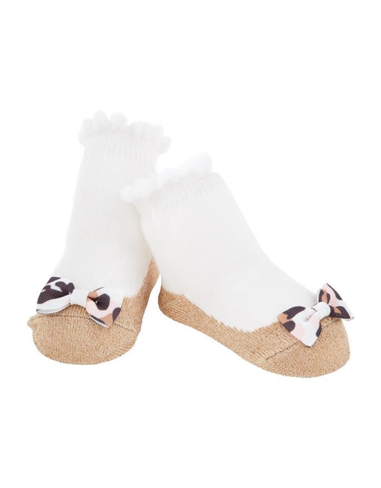 Mudpie Mud Pie - Gold Bow Socks