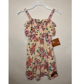 Millie Jay Millie Jay- Maggie Romper: Peach Floral