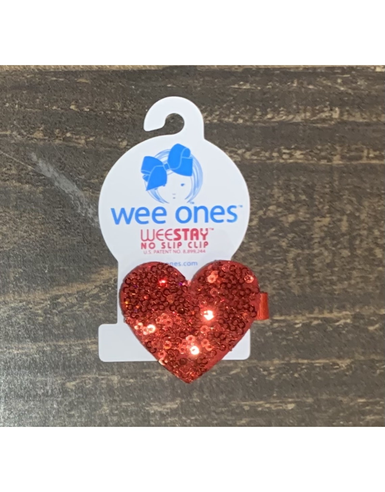 Wee Ones - Large Sequin Heart Hair Clip