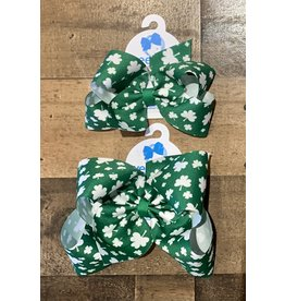 Wee Ones - Green Shamrock Print Bow