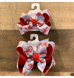 "Beyond Creations Beyond Creations- 1.5"" Crawfish News Layered Knot Bow"