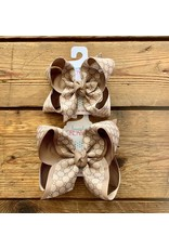 Beyond Creations Beyond Creations - GU Taupe Layered Bow on Clip