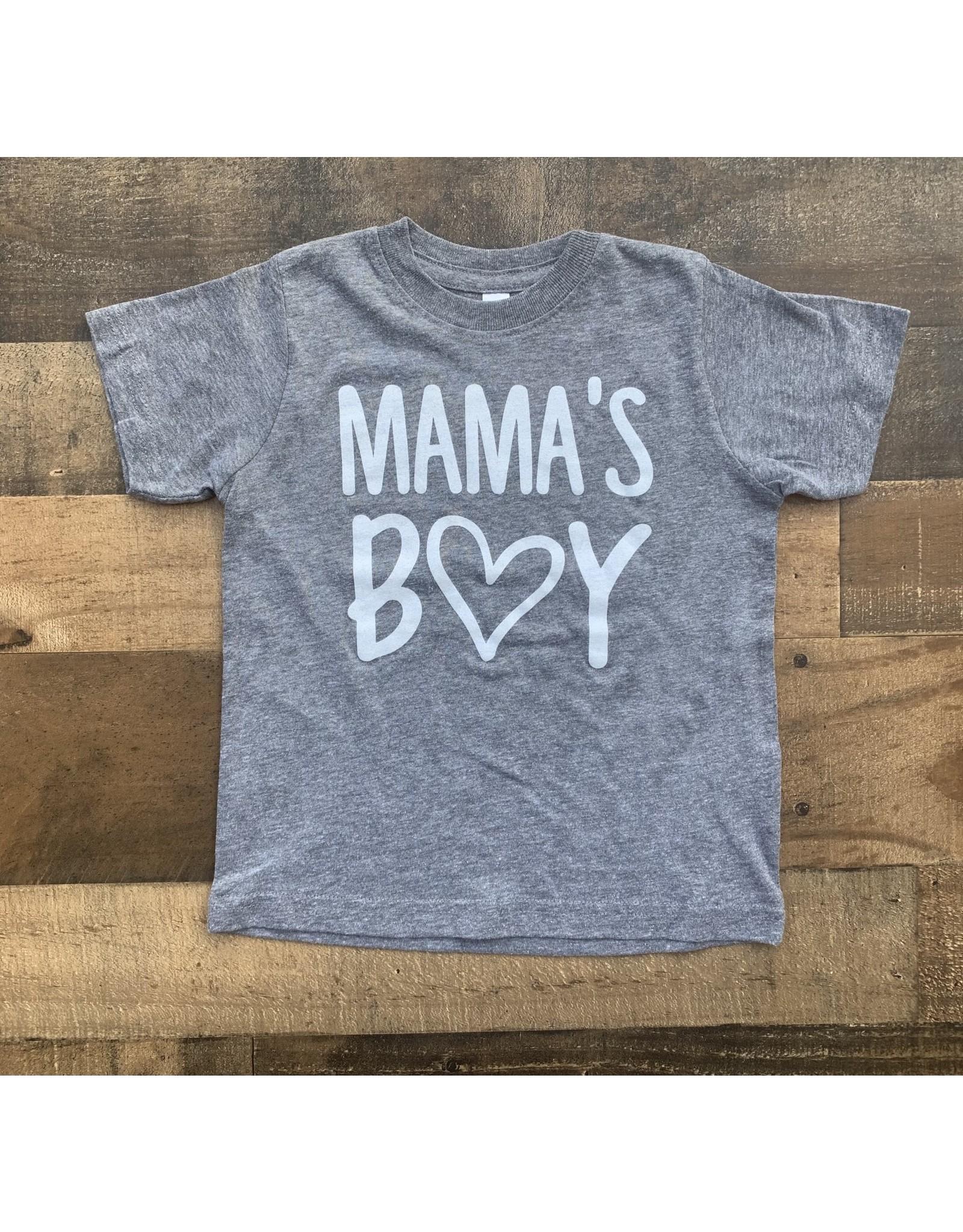 Mama's Boy TShirt: Gray