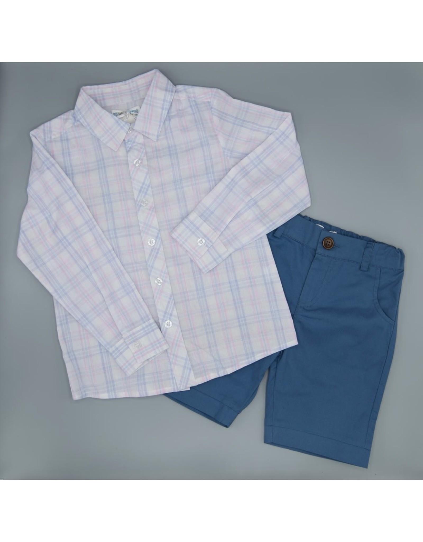Evie's Closet- Boys Pink/Blue Shirt