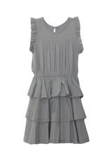 Isobella & Chloe Isobella & Chloe- Grey Tiered Ruffle Dress