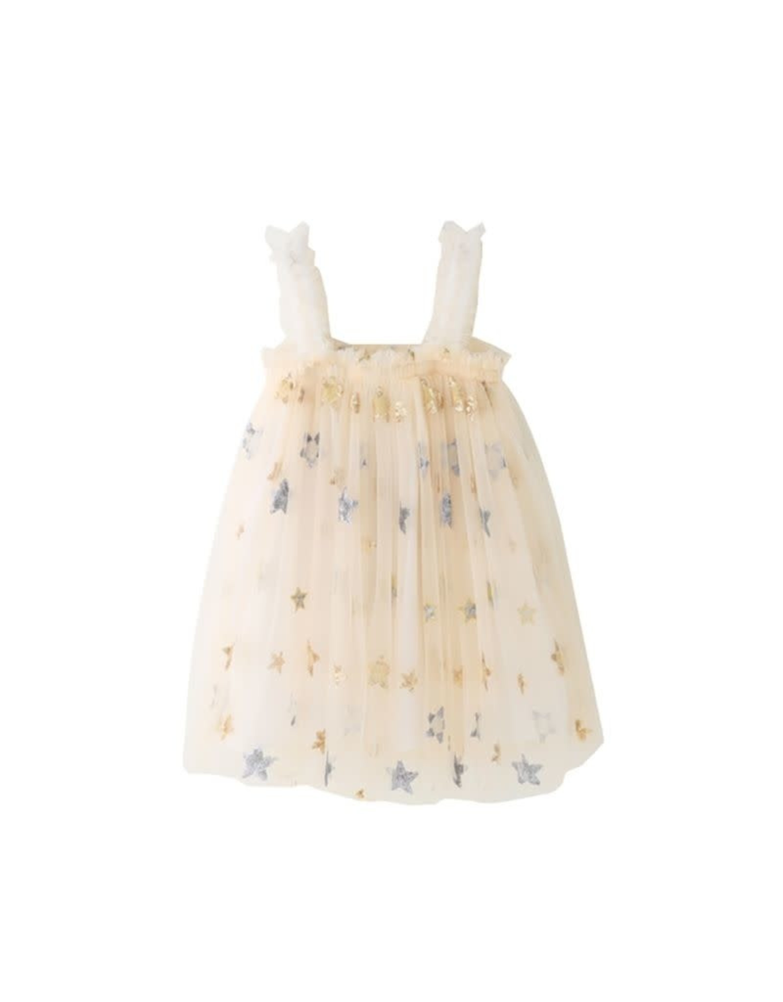 loved by Jade Presley loved by jade presley- Star Sequin Mesh Dress: Ivory