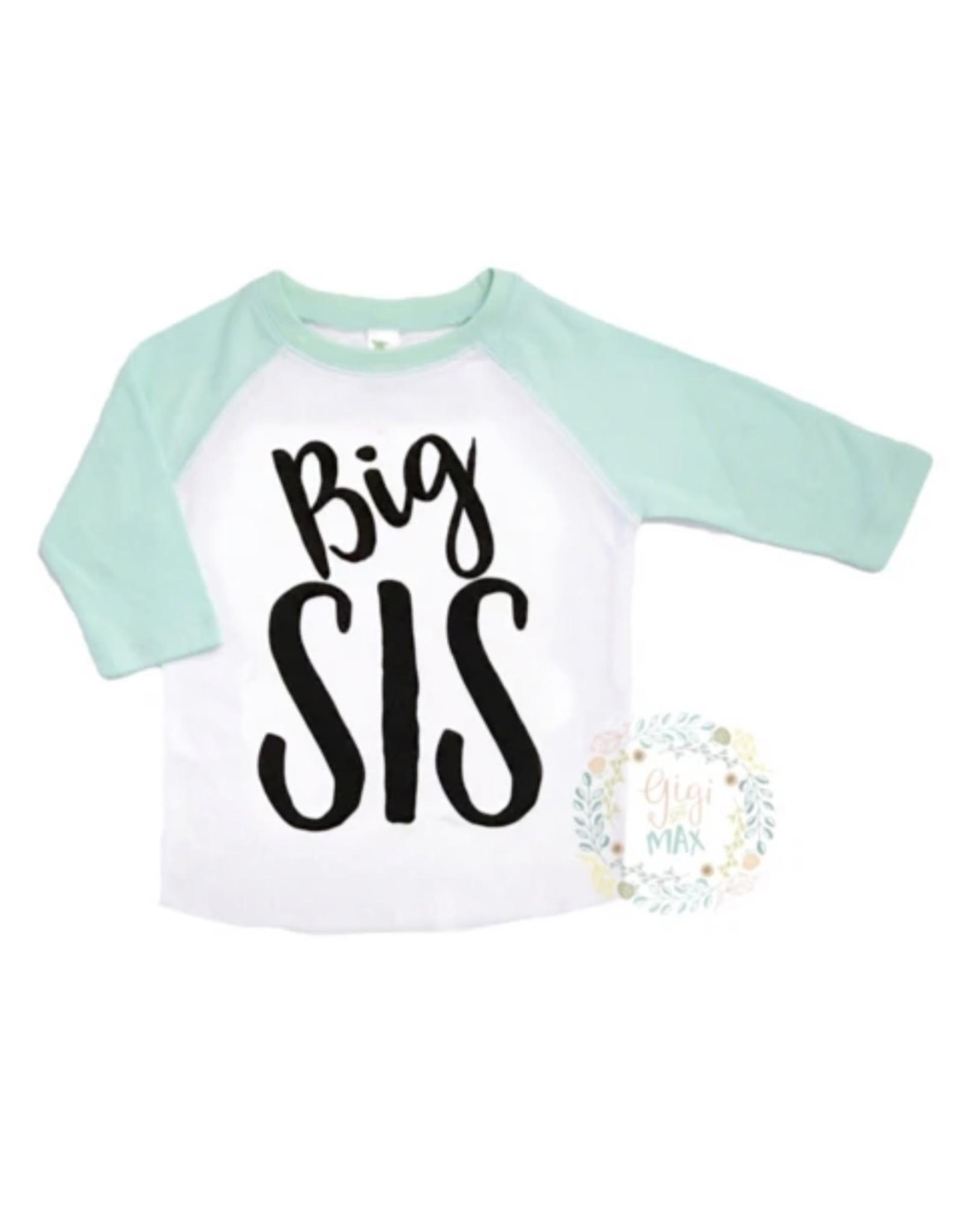 Gigi & Max Gigi & Max - Big Sis Mint Sleeve Raglan