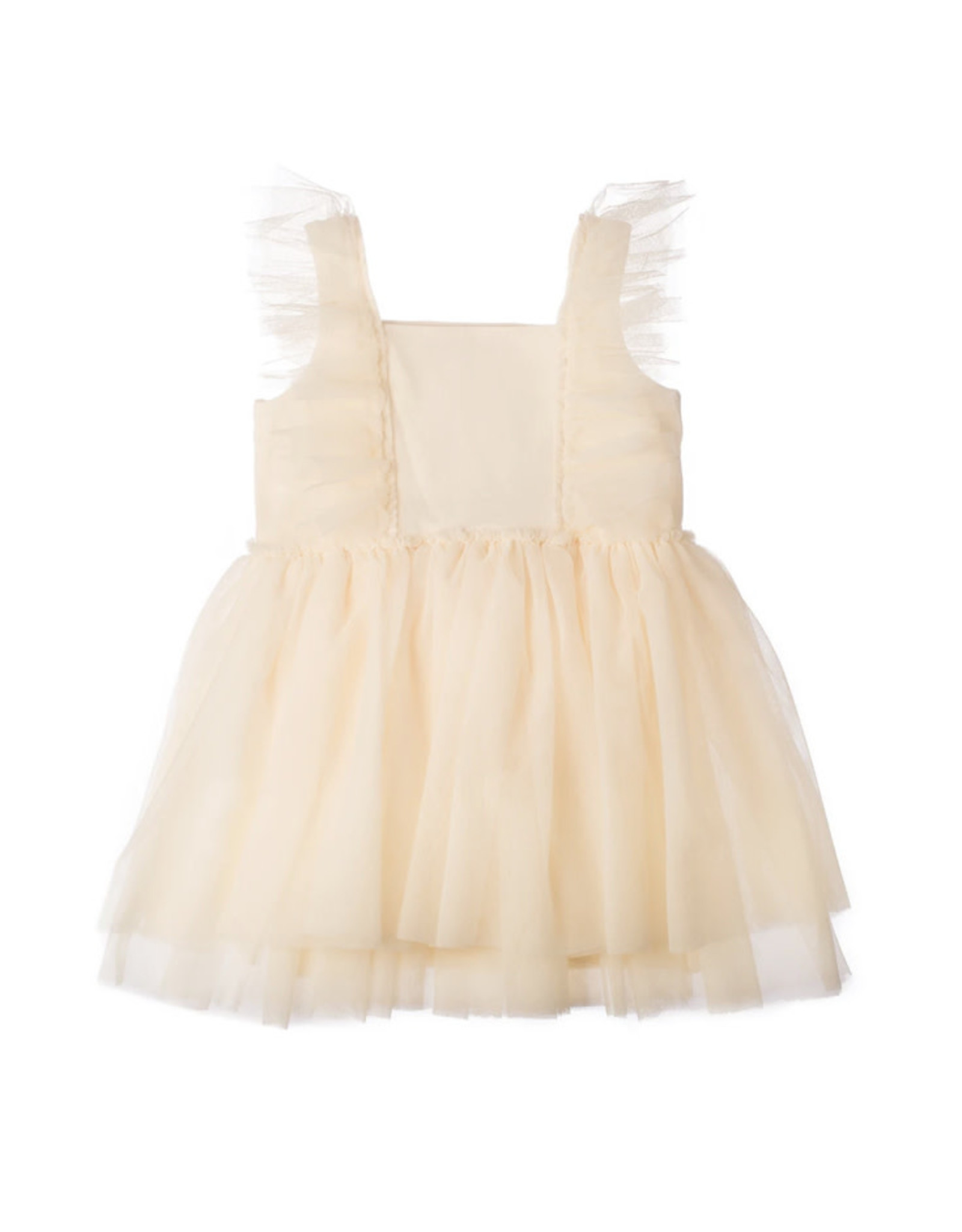 Born to Love- Off White Tulle Dress