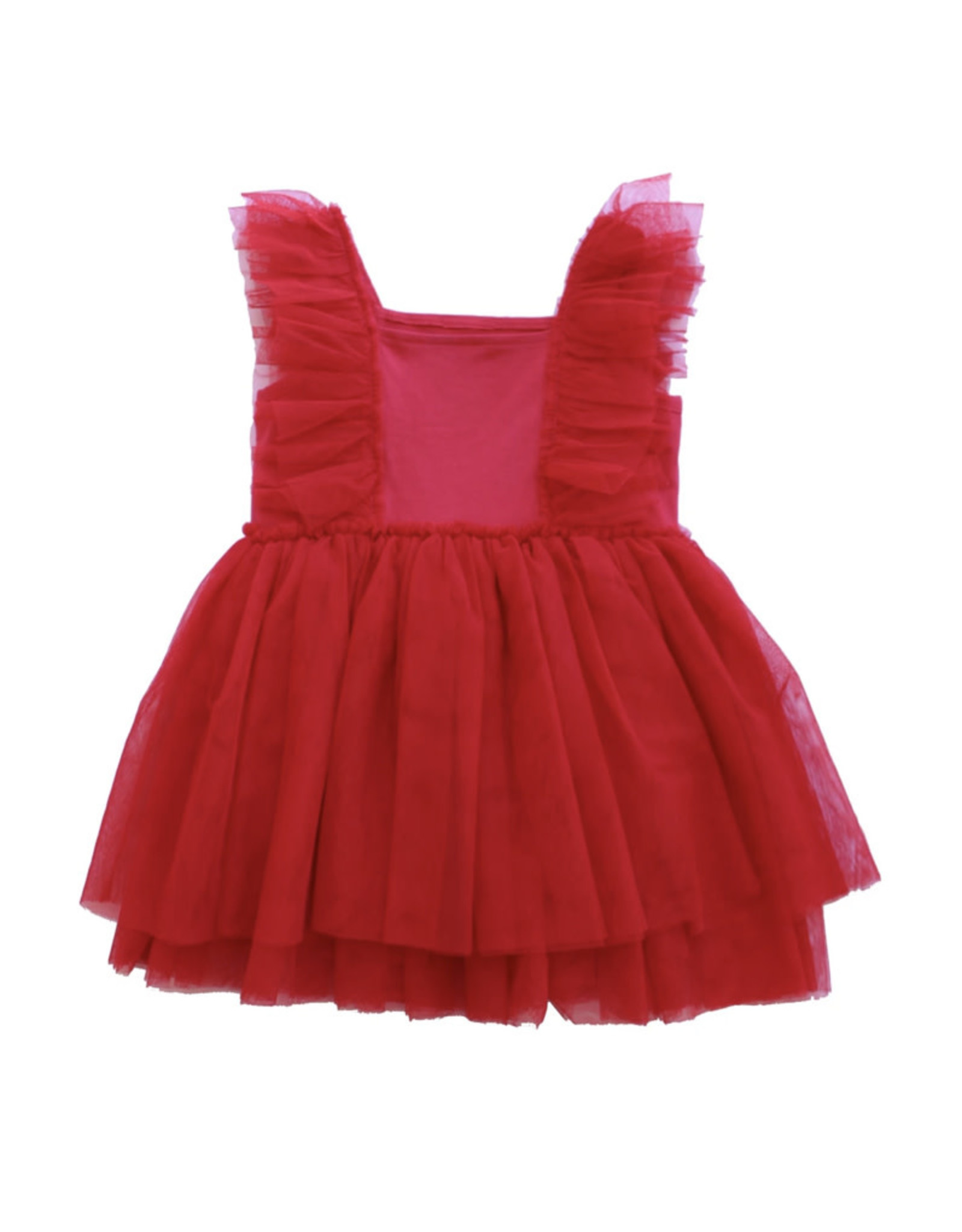 Born to Love- Red Tulle Dress