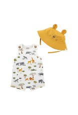 Mudpie Mud Pie- Printed Safari Romper 2pc Set