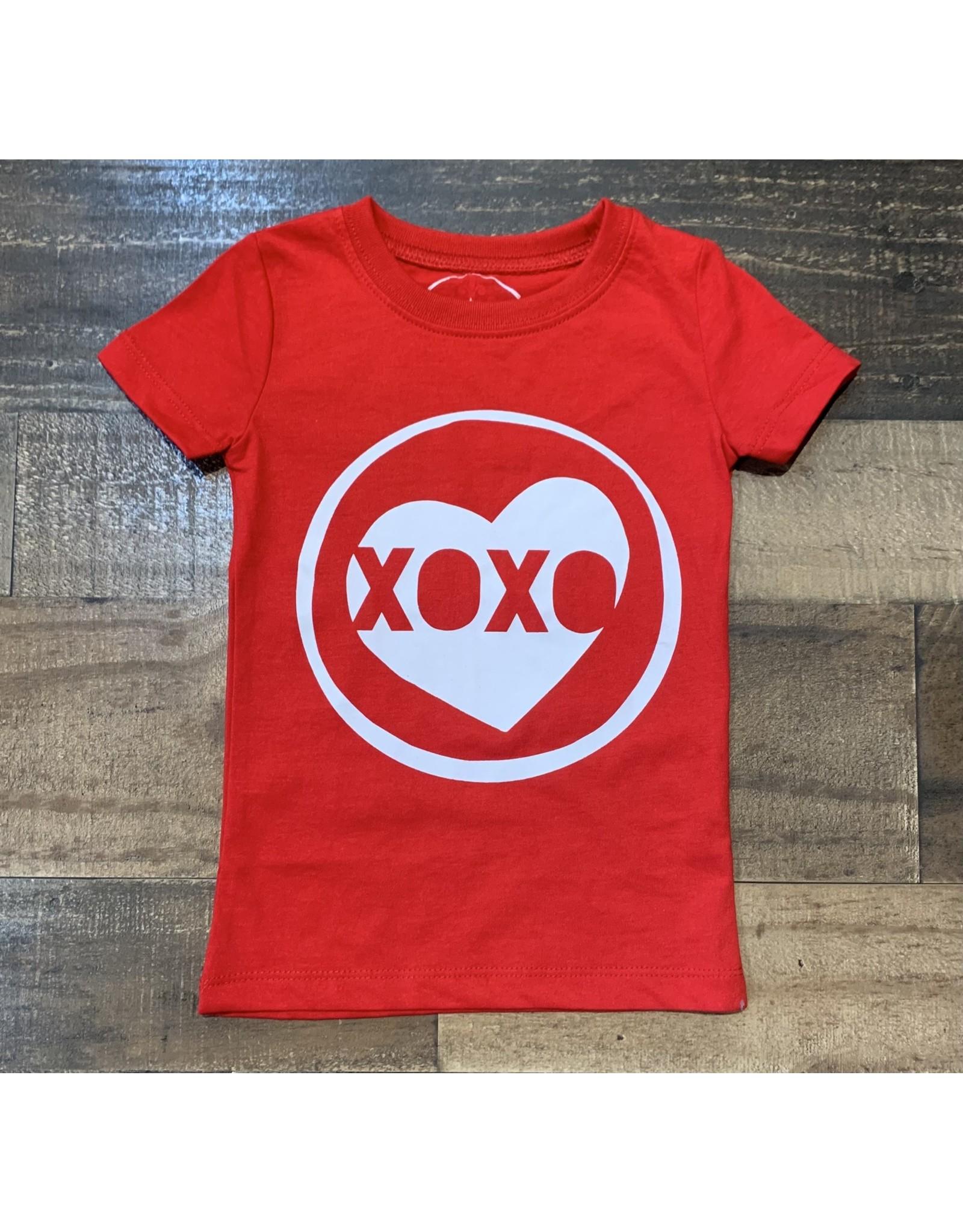 Jane Marie- XOXO Red Cew Neck Shirt