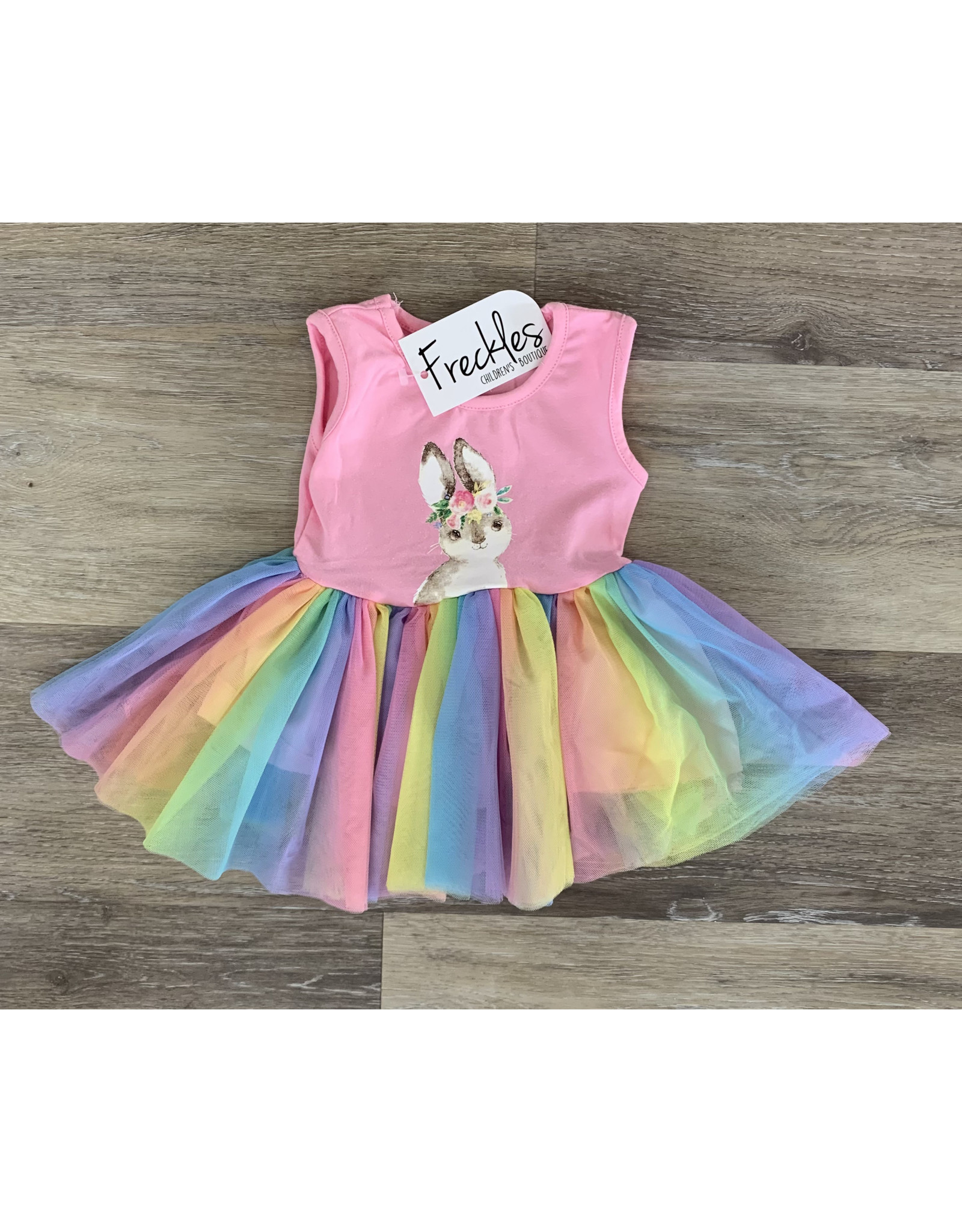 Bunny Rainbow Tulle Dress