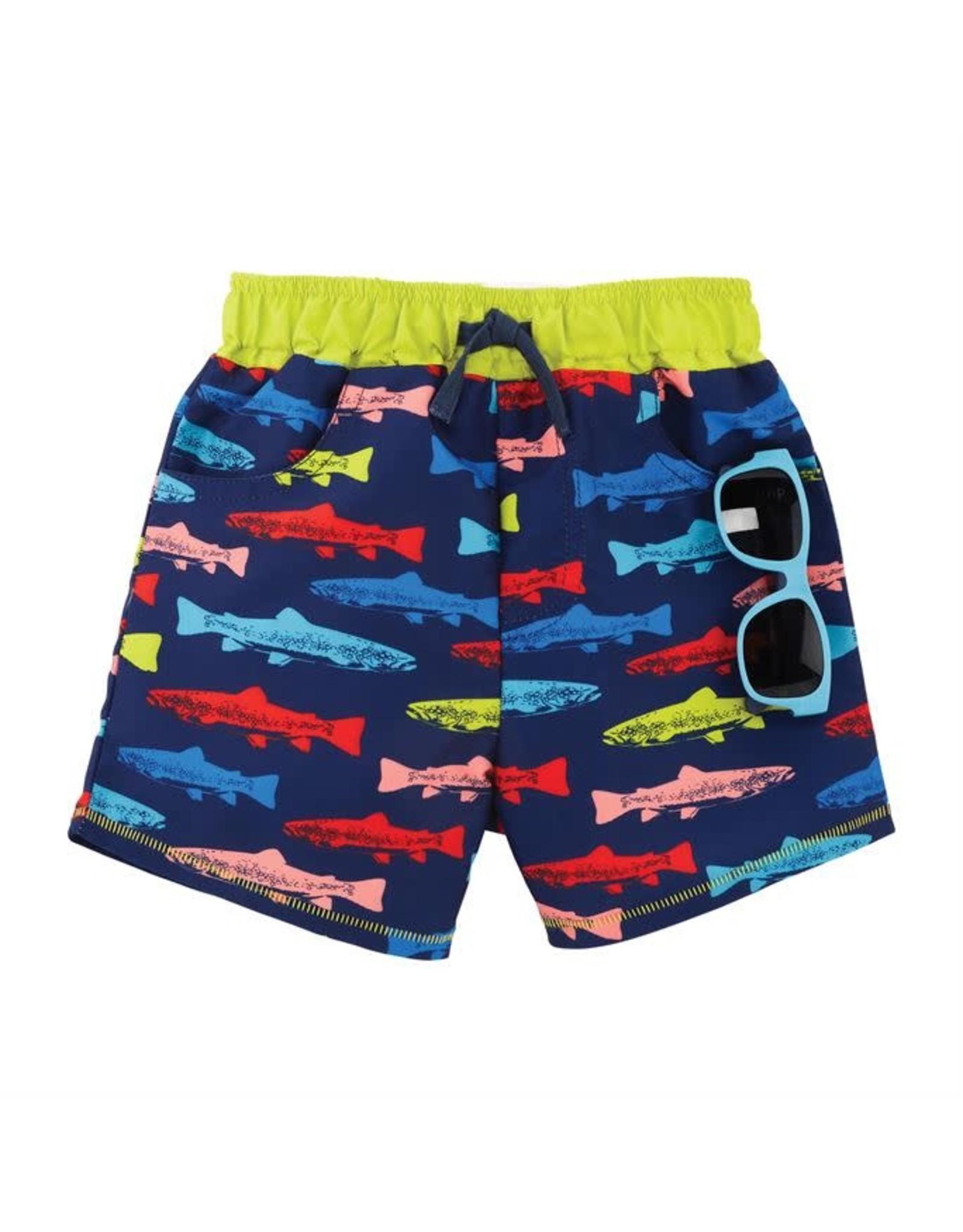 Mudpie Mud Pie- Fish Swim Trunks w/Sunglasses