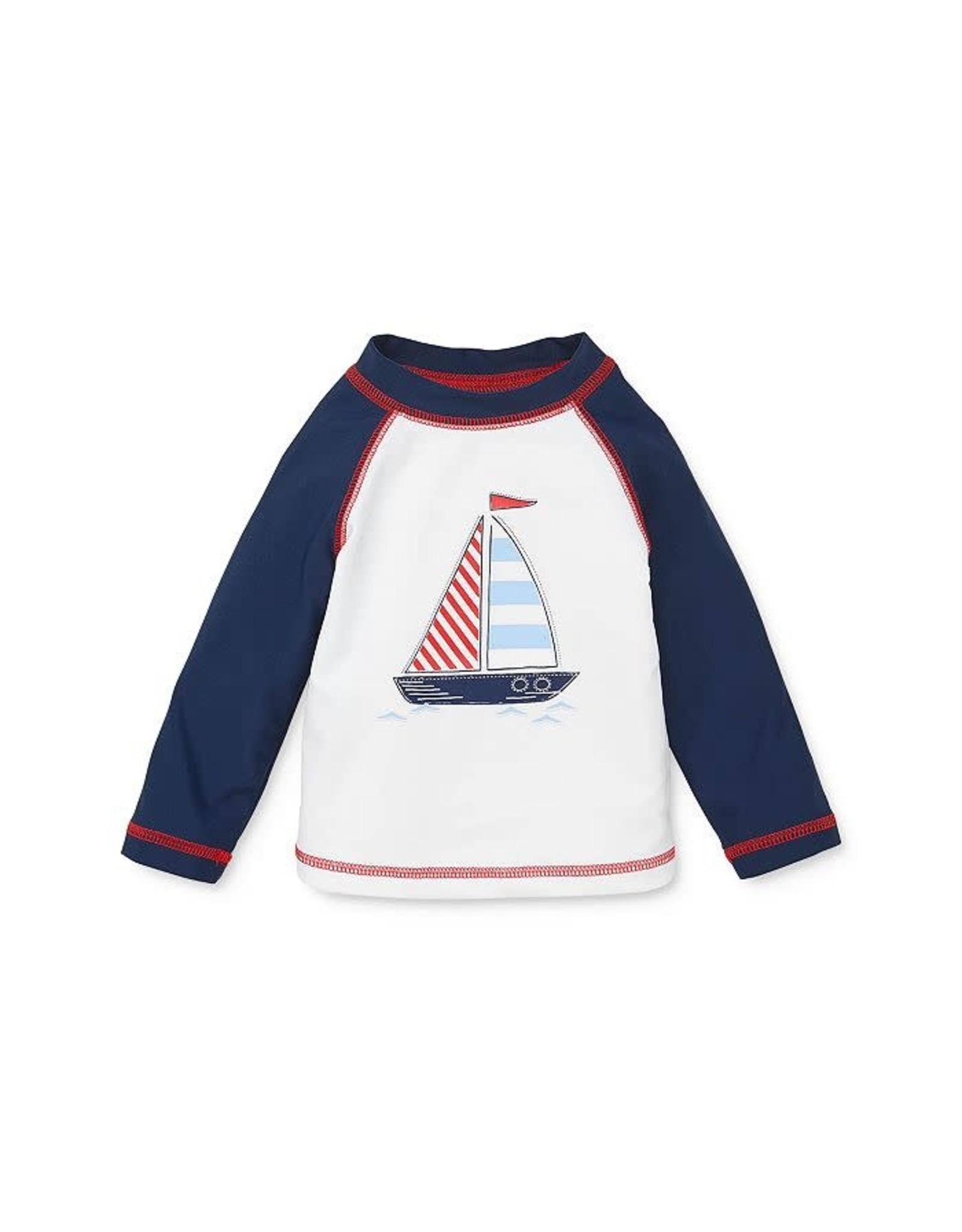 Little Me Little Me- Sail Boat Rashguard