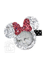 Beyond Creations Beyond Creations - Silver/Red Bow Mouse Glitter Shaker