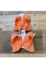 Beyond Creations Beyond Creations- Orange Glitter Metallic Knot Bow
