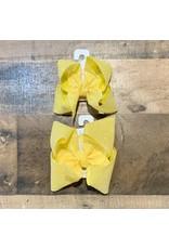 Beyond Creations Beyond Creations- Bright Yellow Glitter Metallic Knot Bow