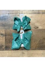 Beyond Creations Beyond Creations- Aqua Glitter Metallic Knot Bow