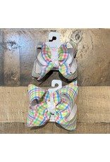 Beyond Creations Beyond Creations- White/Pastel Plaid Layered Knot Bow