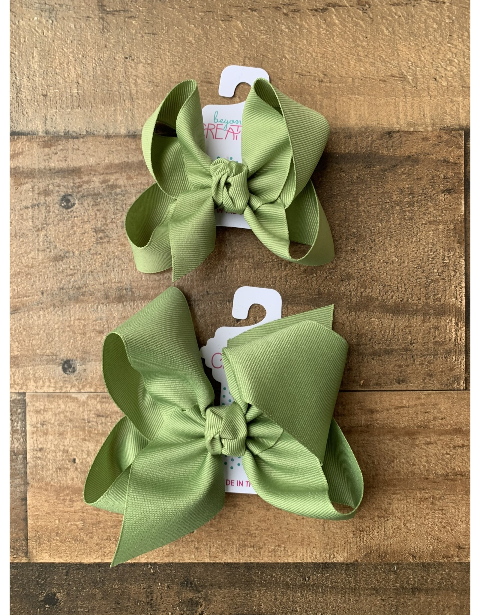 Beyond Creations Beyond Creations- Spring Moss Grosgrain Knot Bow