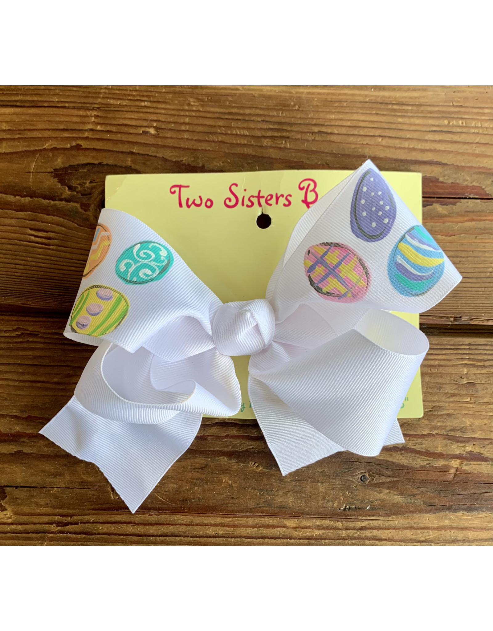 Two Sisters- Pastel Eggs Handpainted Large Bow