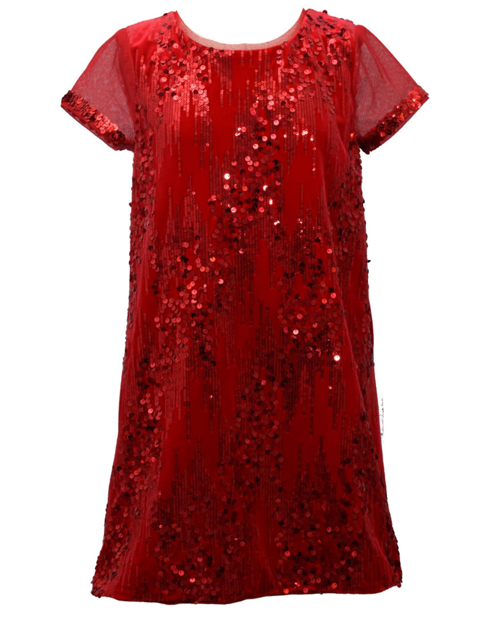 Bonnie  Jean Bonnie Jean- Red Sequin Dress