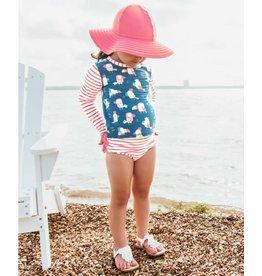 Ruffle Butts Ruffle Butts- You're the Tweetest L/S Rash Guard Bikini