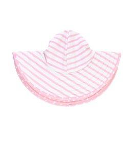 Ruffle Butts Ruffle Butts- Pink Polka & Stripe Reversible Swim Hat