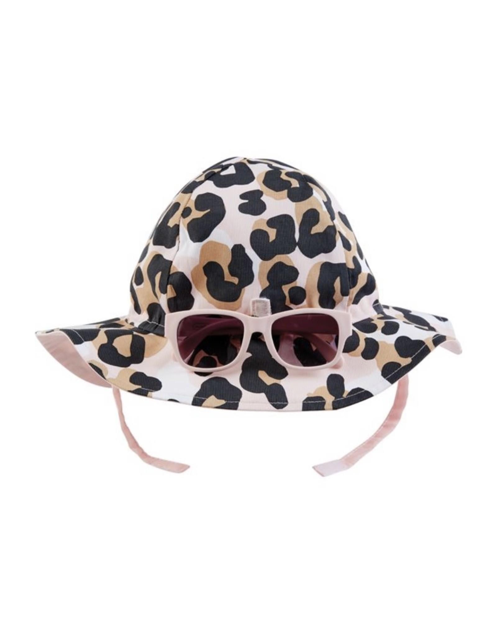 Mudpie Mud Pie- Leopard Sun Hat & Glasses 6-18M