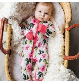 Little Sleepies Little Sleepies- Roses Convertible Romper/Sleeper
