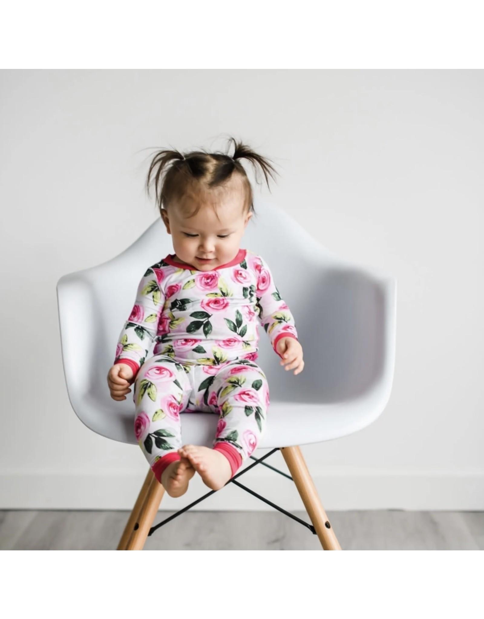 Little Sleepies Little Sleepies- Roses Bamboo Two-piece Pajama Set