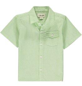 Me & Henry Me & Henry- Lime Seersucker Newport Shirt