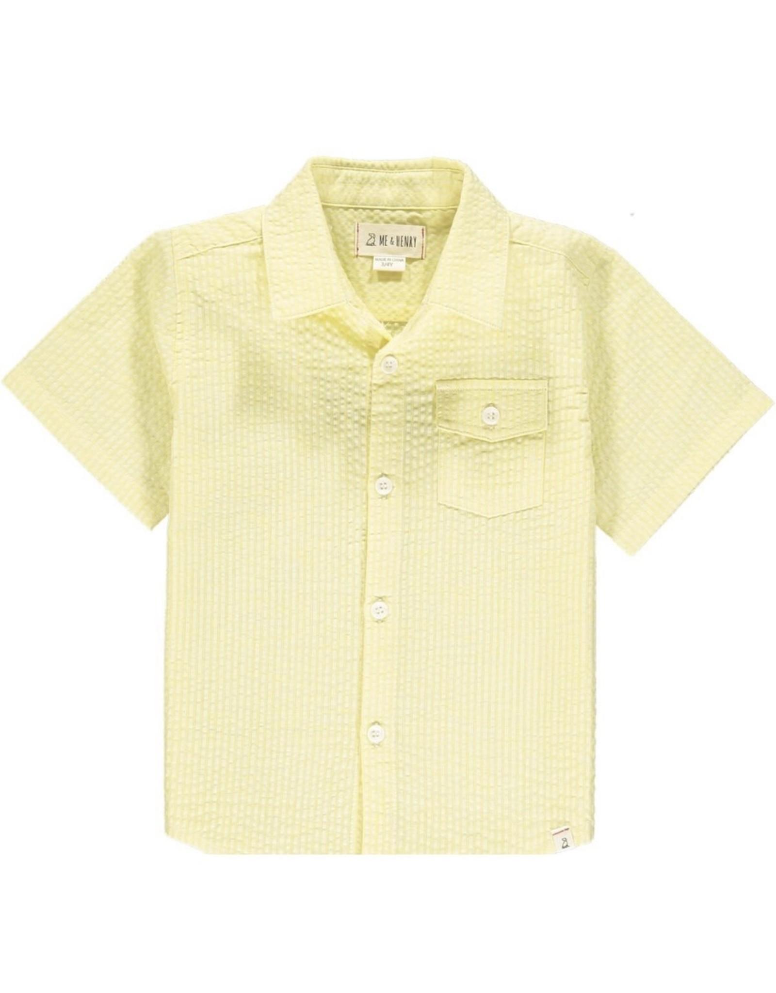 Me & Henry Me & Henry- Yellow Seersucker Newport Shirt