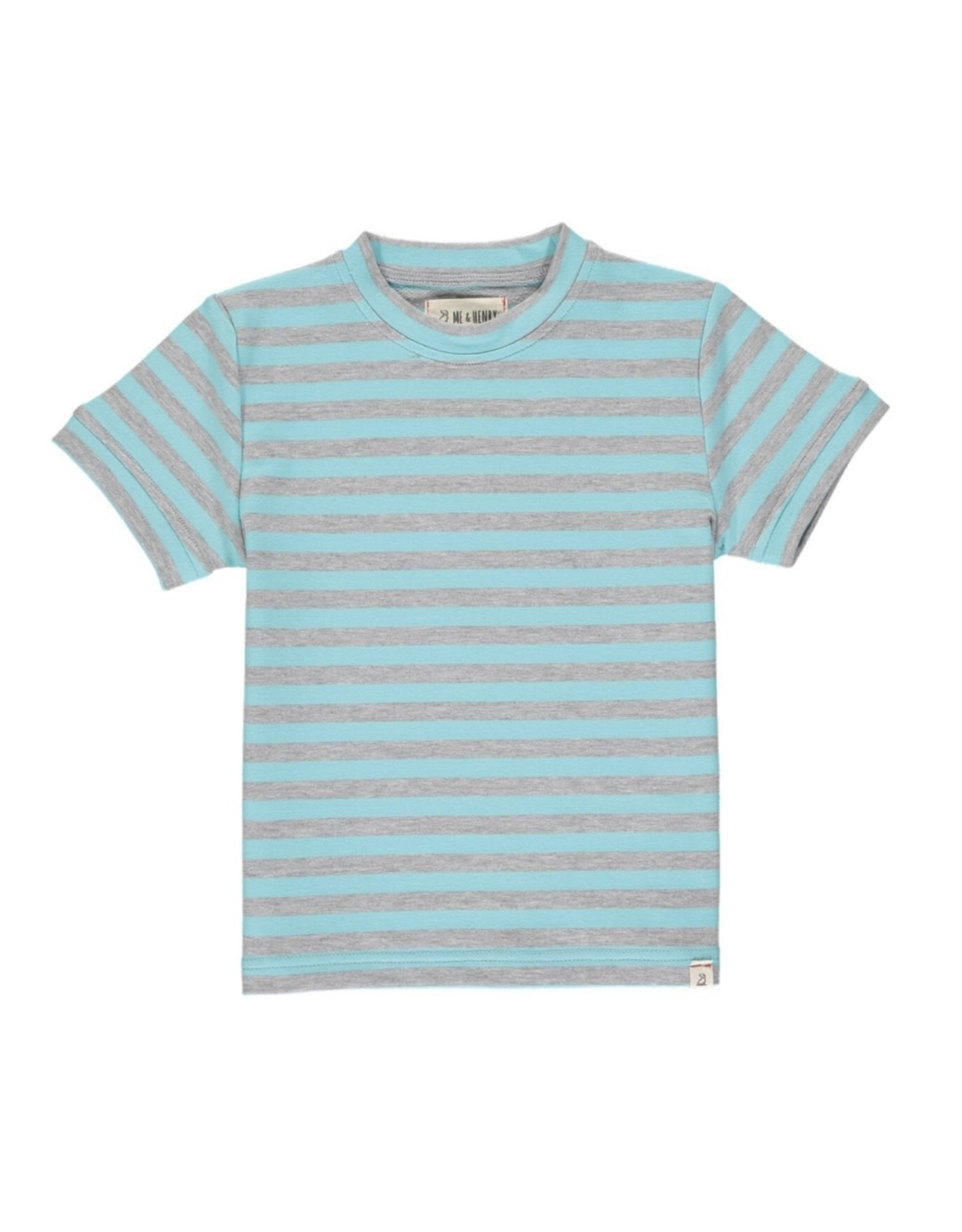 Me & Henry Me & Henry- Blue/Grey Stripe Camber Tee
