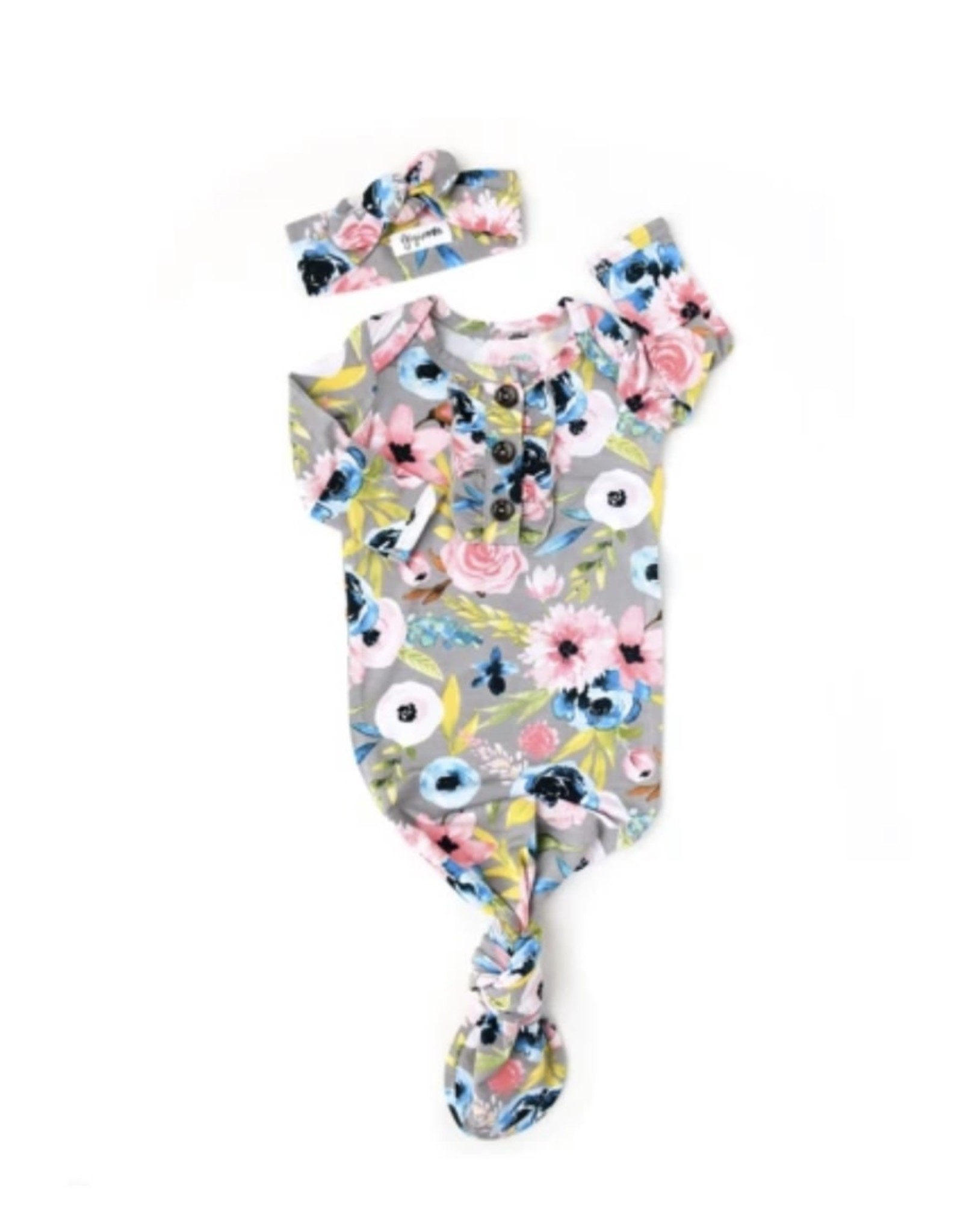 Gigi & Max Gigi & Max- Hazel Floral Ruffle Gown & Headband Set