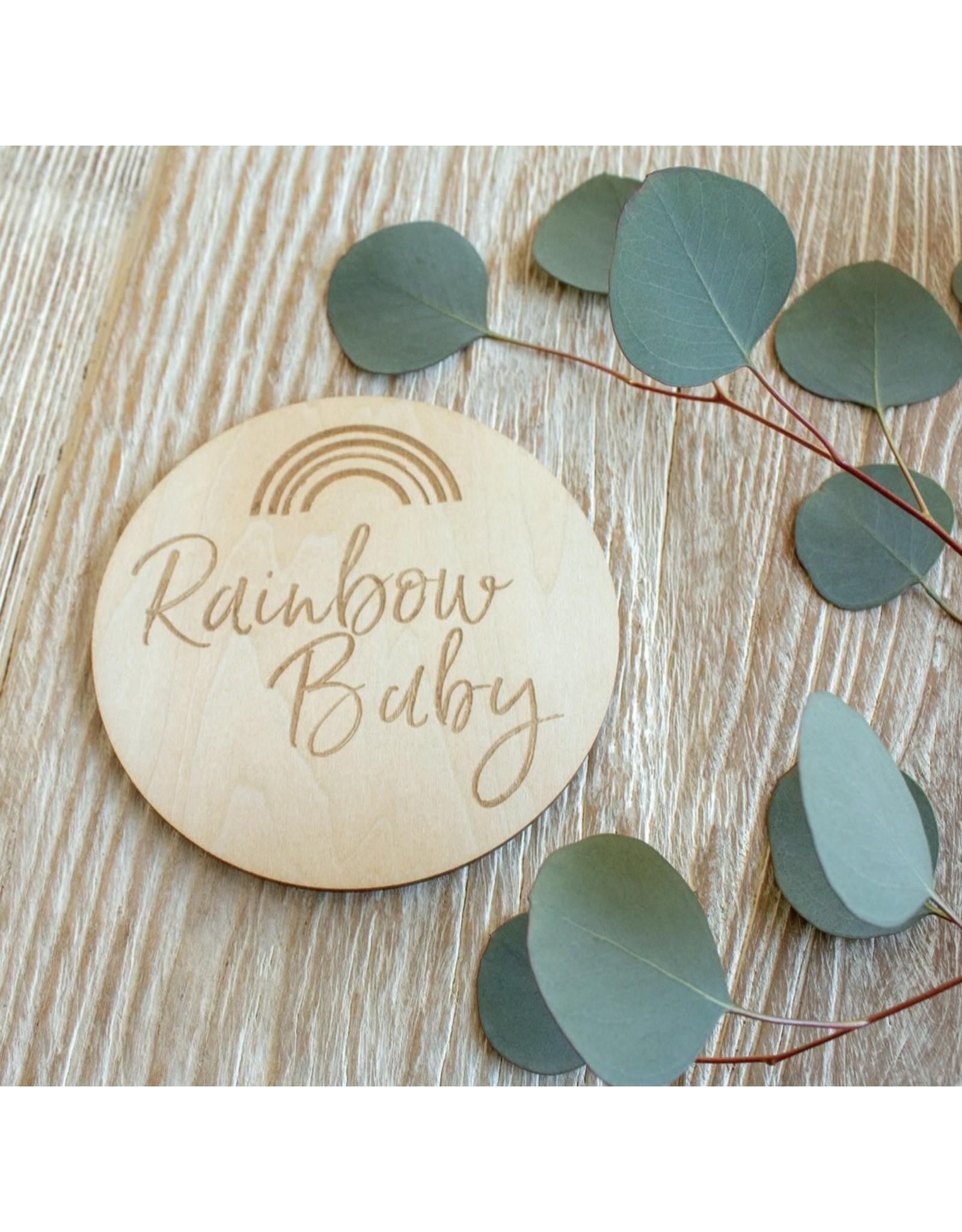 Bebe Au Lait Bebe Au Lait- Rainbow Baby Milestone Disc