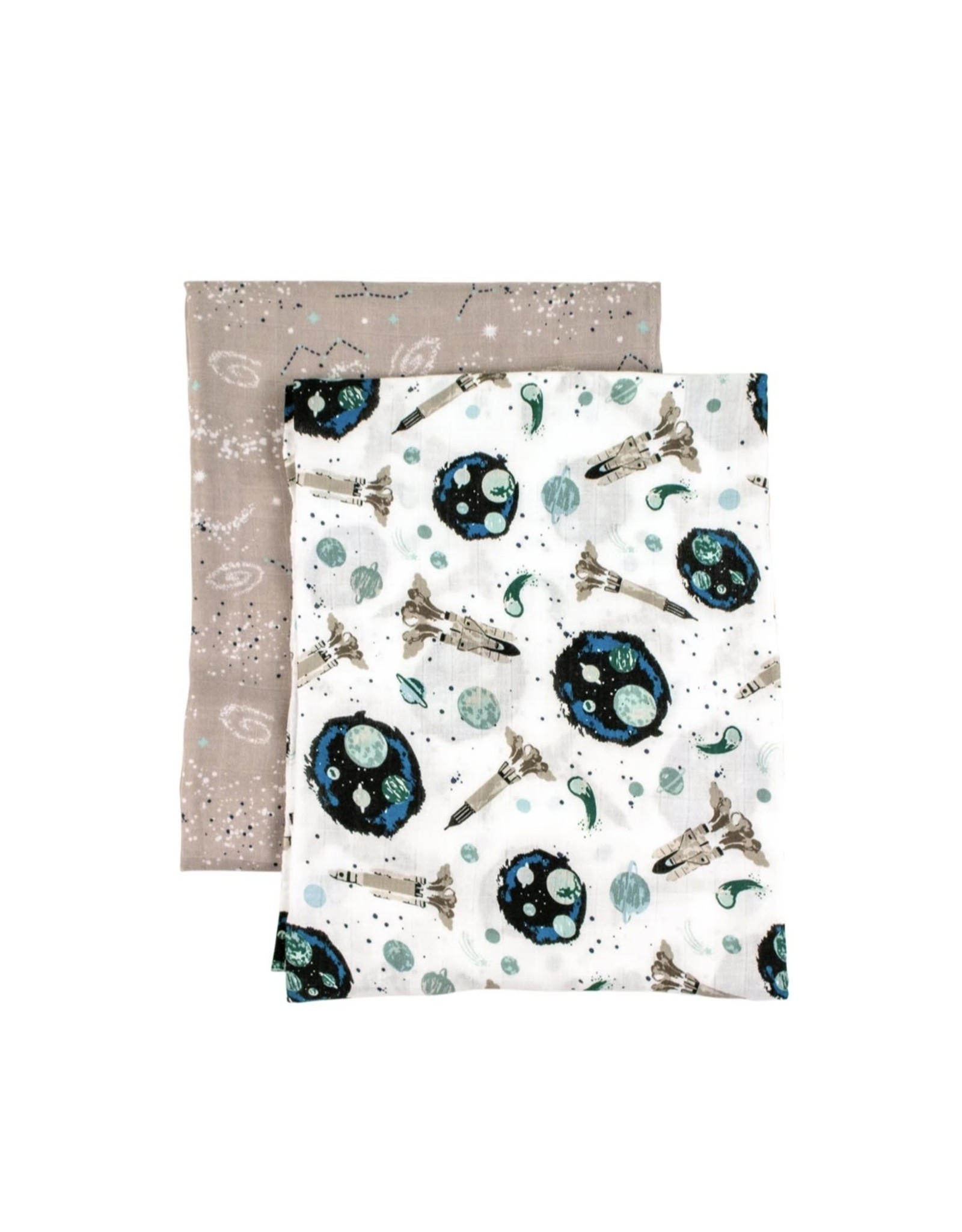 Bebe Au Lait Bebe Au Lait- Space & Galaxy Oh-So-Soft Muslin Swaddle Blanket Set
