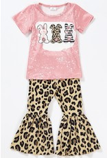 Bunny Leopard Bell Bottom Set