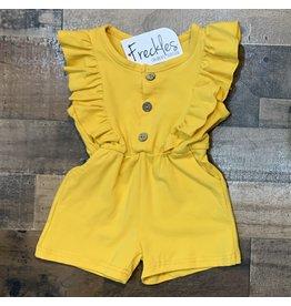 loved by Jade Presley loved by jade presley- Kai Button Short Romper: Mustard