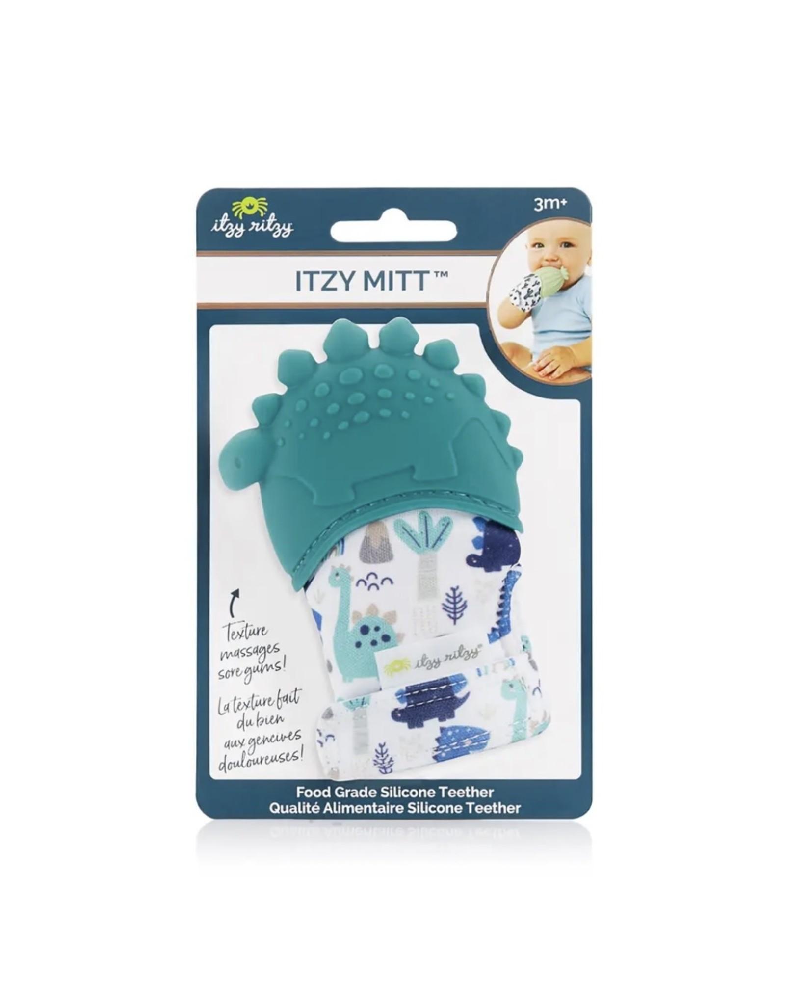 Itzy Ritzy Itzy Ritzy - Itzy Mitzies: Teal Dinosaur Teething Mitt