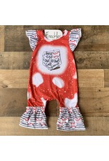 Ball Game Red Romper