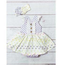 Serendipity Serendipity- Lemon Bloom Bubble Dress