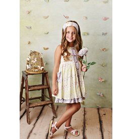 Serendipity Serendipity- Lemon Blooms Dress w/Shortie