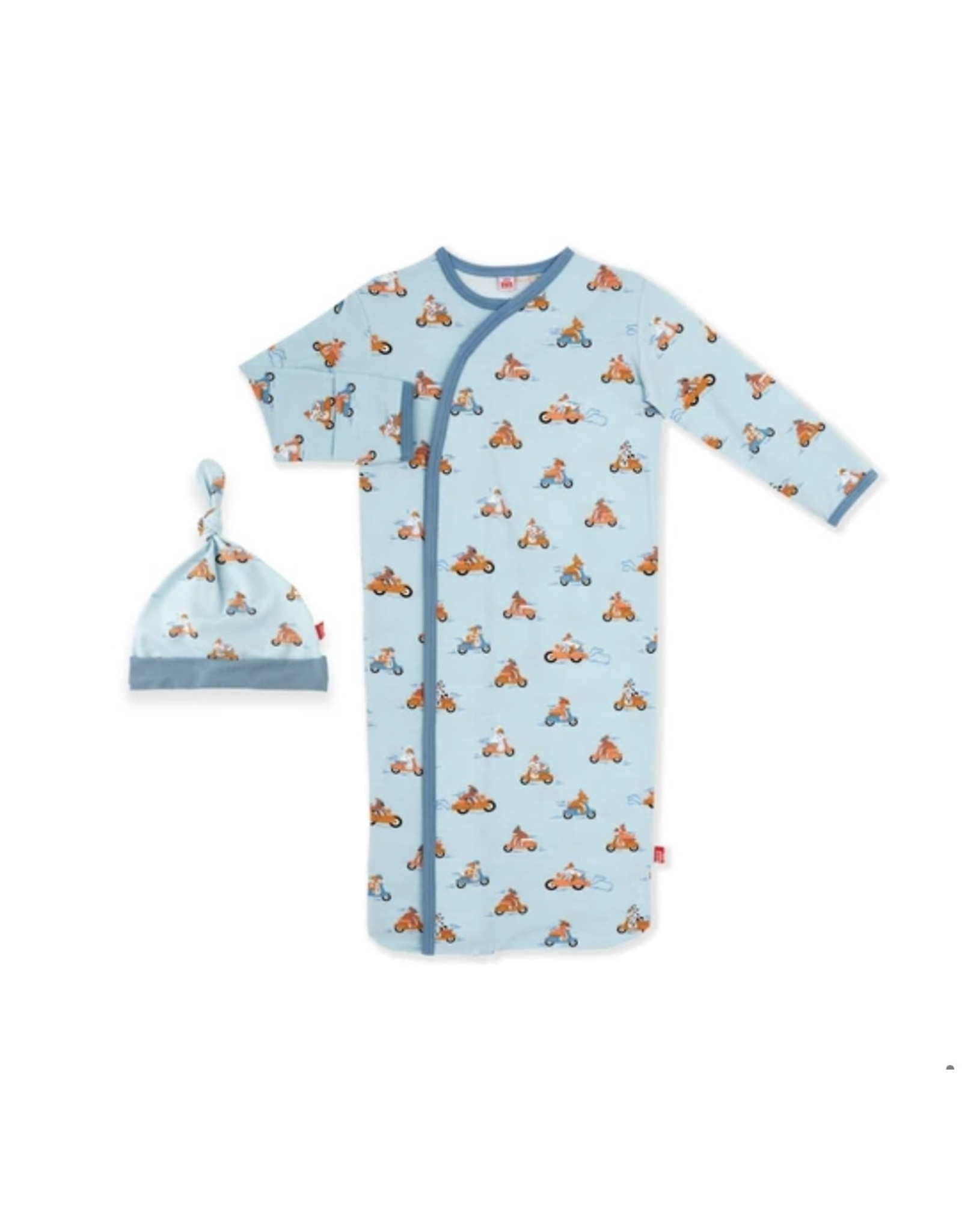 Magnetic Me Magnetic Me- Easy Rider Gown & Hat Set (0-3M)