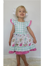 Aqua Plaid Bunny Dress
