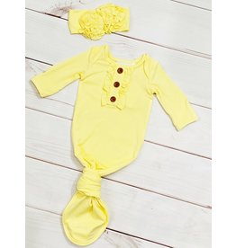 Swoon Baby Swoon Baby- Sunshine Knot Gown w/Headband