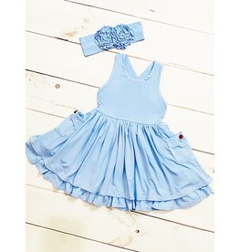 Swoon Baby Swoon Baby- French Blue Pocket Essential Dress