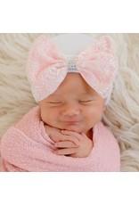 ILYBEAN Ilybean- Pinky Lace Bow Nursery Beanie